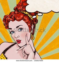 Pop Art illustration of woman with the speech bubble.Pop Art girl. Party invitation. Birthday greeting card.Pop Art girl.Hollywood movie star.Vintage advertising poster. Comic woman with speech bubble