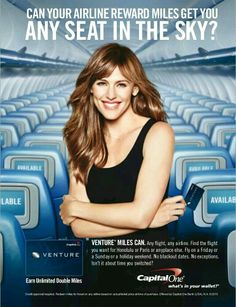 Capital One - can you airline reward mile get you any seat in the sky?  From Travel + Leisure (DEC15)