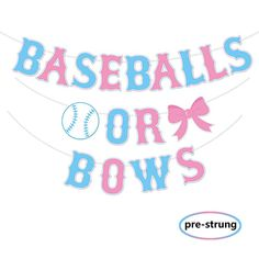 Baseball Baby Shower themes Unique Kitticcino Baseballs or Bows Gender Reveal Banner Boy or Girl Baby Shower Garland Blue or Pink Gender Reveal Party Pregnancy Announcement Decor Baseball Gender Reveal, Gender Reveal Banner, Gender Reveal Announcement, Gender Reveal Party Decorations, Baseball Pregnancy Announcement, Gender Party, Baby Gender Reveal Party, Baby Shower Background, Baby Shower Garland