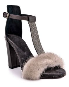 a19fd8bf50d7 Black Mules, T Strap Sandals, Brunello Cucinelli, Fashion Killa, Mink,  Graphite