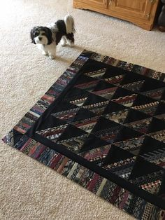 memory quilt made with neckties