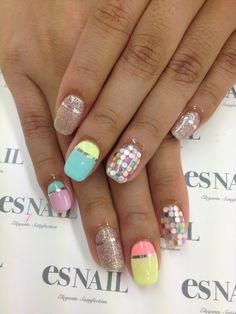 Nails by es nails Luv Nails, Pink Nails, Pretty Nails, Garra, Crazy Nail Designs, Nail Art Designs, Easter Nails, Striped Nails, Girls Nails