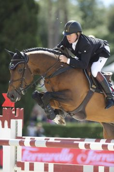 Nick Skelton and Big Star. The most amazing horse,in my opinion that there has ever been.Amazing partnership too.