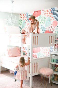Girls Bedroom Wallpaper, L Wallpaper, Accent Wallpaper, Wallpaper Ideas, Home Design, Design Ideas, Design Design, Design Trends, Interior Design