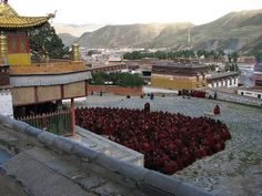 China: Labrang is located in Xiahe County in Gansu province, in the traditional Tibetan area of Amdo.  Labrang Monastery is situated at the strategic intersection of four major Asian cultures—Tibetan, Mongolian, Han Chinese, and Chinese Muslim—was one of the largest Buddhist monastic universities.