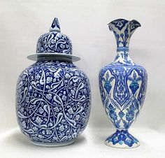 New Year Premiere Furniture & Decorative Arts Auction - O'Ga Blue Pottery, Pottery Art, Moroccon Tiles, Turkish Art, Blue And White China, Tile Art, Ceramic Plates, Art Auction, Ancient Art