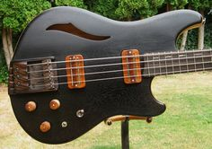 """Griffin Guitars Custom 30"""" scale bass with an Ebony top... like the pickups"""