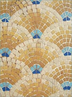 Mosaic Patterns Printable | Photo of Colorful ancient mosaic pattern