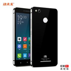 For Xiaomi Redmi 3S Pro case metal frame and toughened glass back cover for 5.0Inch smartphone by free shipping