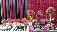colourful wedding reception decor - Google Search