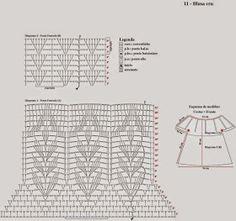Crochê Meire: crochê blusas-regatas Crochet Shirt, Crochet Jacket, Crochet Top, Crochet Accessories, Crochet Clothes, Crochet Stitches, Crop Tops, Shirts, Album