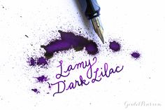 Lamy Dark Lilac ink is a gorgeous deep dark purple. Read this ink review to learn more!