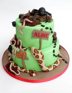 For a creepy crawly themed birthday party.....all creepy crawlies handmade from fondant!!