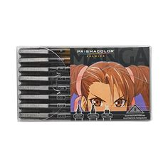 PRISMACOLOR PREMIER Marker Art, Manga Illustration Markers Assorted Nibs, Box of 8, Assorted Colours (1759417)