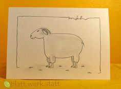 Weiteres - Grusskarte Schaf individuell handgemalt - ein Designerstück von blattwerkstatt bei DaWanda