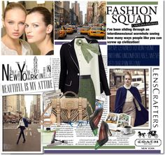 """new york, new york : share your style with Lenscrafter and Coach"" by limass ❤ liked on Polyvore"