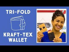 Make an Awesome Trifold Kraft-tex Wallet - YouTube