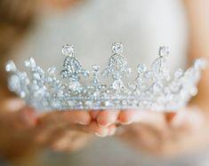 Swarovski Crystal Wedding Tiara Tiaras And Crowns For Bridal Crown, Bridal Tiara, Bridal Headpieces, Bridal Jewelry, Pearl Bridal, Wedding Tiaras, Wedding Hair, Wedding Veils, Wedding Crowns
