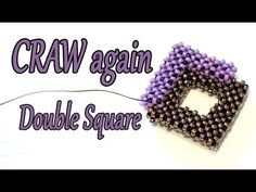 CRAW Tutorial perline - Cubic RAW a 2 file tutorial - Cubic Right Angle Weave tecnica perline Beaded Necklace Patterns, Beaded Jewelry Designs, Seed Bead Patterns, Seed Bead Jewelry, Beading Patterns, Beaded Earrings, Seed Beads, Jewelry Making Tutorials, Beading Tutorials