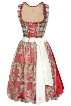 Love this colour palette! #dirndl #German #Austrian #traditional #folk #costume #dress #tracht