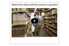 Video   Die Befragten werden Fragen zu einem hochgeladenen Video gestellt.