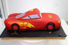 Rayo McQueen Cake paso a paso| Natalia Salazar - Disney Cars Party, Disney Cars Birthday, Lighting Mcqueen Cake, Mc Queen, Cakes, Boys, Projects, Car Cakes, Rat