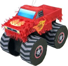 Truck Pinata - Jumbo Monster Truck Pinata that looks enough like Blaze to be used at a Blaze and the monster machines birthday party.Monster Truck Pinata that looks enough like Blaze to be used at a Blaze and the monster machines birthday party. Monster Trucks, Monster Truck Birthday, Monster Birthday Parties, Monster Party, Monster Jam, Monster Pinata, Blaze And The Monster Machines Party, Blaze The Monster Machine, Batman Party