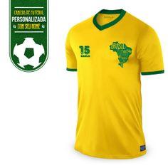 Camisa de Futebol Saulo Brasil Sou Eu, é Você, Somos Nós #LojadoSaulo #Bandup #Copa2014 #BaianoSouEu