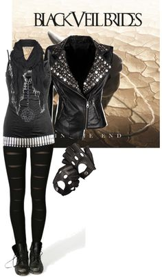 love the band and this outfit could wear to casual things like school or the movies etc also my leather jacket has sleeves so id rather wear it like that or make the sleeves detachable