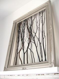 Modern unique home decor ideas picture : Natural Decoration With Tree Branch On Wsall