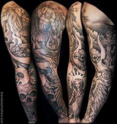 angels and demons tattoos | Tattoo Inspiration - Worlds Best Tattoos : Tattoos : Religious Angel ...