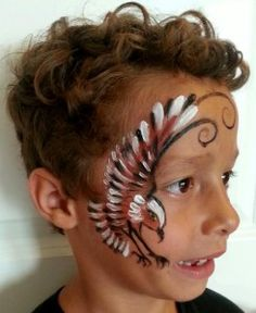 Dandelion earth face painting