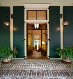 Door with shutters a