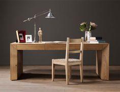 Parsons Desk in French Oak with Karoo Chair Bespoke Furniture, Fine Furniture, Wood Furniture, Furniture Design, Parsons Desk, Chair Repair, African Furniture, Solid Wood Flooring, French Oak