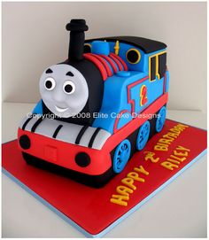 Thomas-Train cake (replica of the cake we are having baked for Sam)