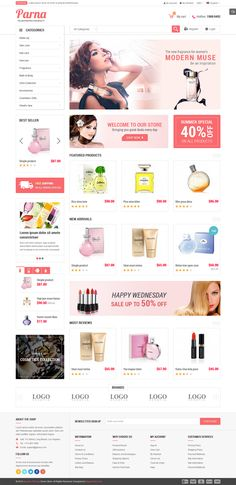 Parna is an elegant #cosmetic #Magento #theme with fully #responsive layout  It comes with a very sleek and simple #design which will perfectly f...