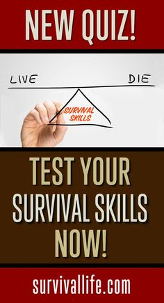New Quiz: Could You Survive a REAL Disaster? Do you have what it takes to make it in the outdoors or a real emergency? Test your survival skills NOW!  http://survivallife.com/survival-skills-quiz/