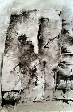 """""""Inner space"""" Ink on paper  30x40 cm Made by Anne Marie Tangen"""