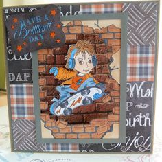 Craftwork cards man made papers and sentiment Image Lacy Sunshine