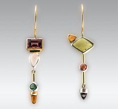 oh, i am also a bit fan that 2 ear rings slightly different from one another. Earrings | Janis Kerman Design