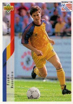 Florin Raducioiu of Romania. 1994 World Cup Finals card.