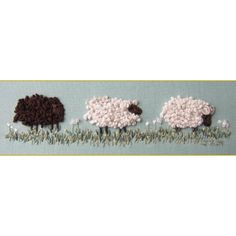 embroidery pattern for counting sheep #embroidery #pattern