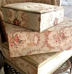 fabric covered lingerie boxes