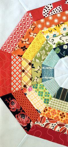mini giant rainbow quilt pattern