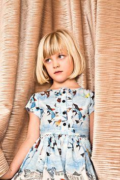 Ernestine Birds Sky Dress - Morley For Kids Online - Kids & Teens Webstore Goldfish.be - Goldfish Kids Web Store Mechelen