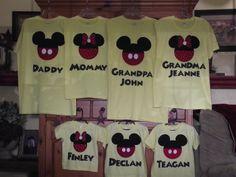 Minnie Mickey Mouse Disney Vacation Family Custom T-Shirts $16.00