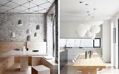   Decoración de interiores con lámparas colgantes