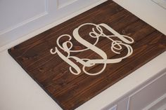 Monogram wood sign. Custom wood sign. Wedding gift. by Bridges2You