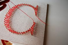 DIY String Art - using a painted cork board. Very easy to do and with just some prep work for an adult a child could do the stringing part! Camping Crafts, Fun Crafts, Diy And Crafts, Crafts For Kids, Arts And Crafts, String Art Letters, String Wall Art, Ideas Dormitorios, Craft Gifts