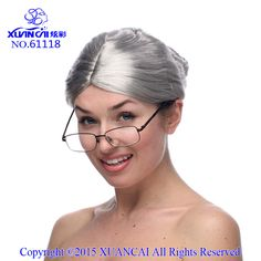 Hot Sale Short Wigs For Women Free shipping New Fashion Gray Granny Wig Old Lady Wig